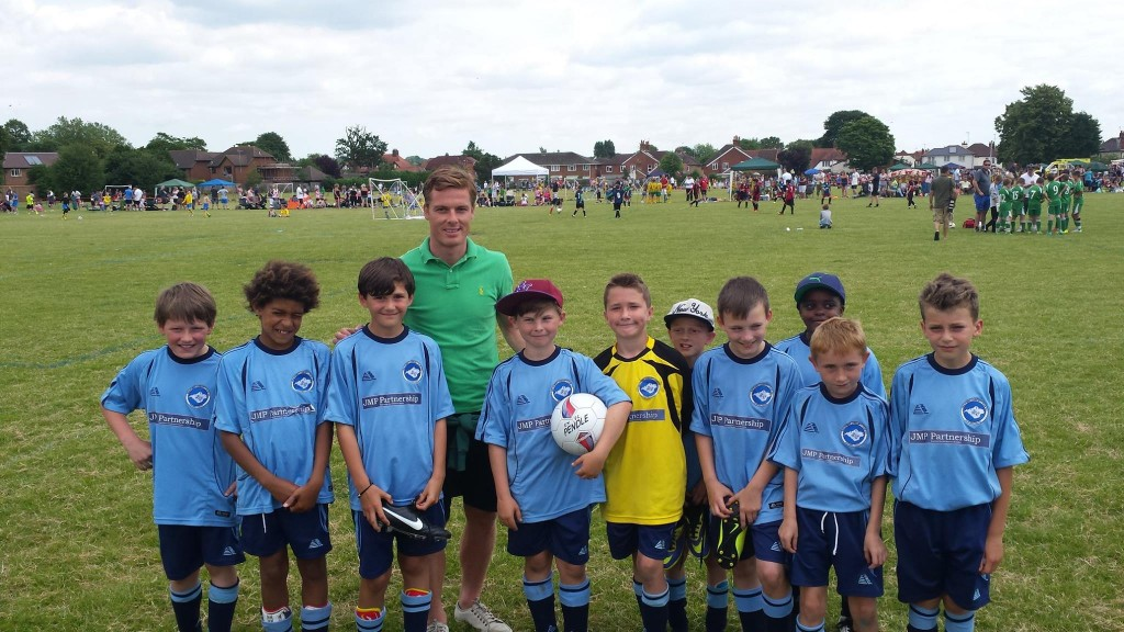 One of the fabulous youth football teams we sponsor, with former England Legend Scott Parker