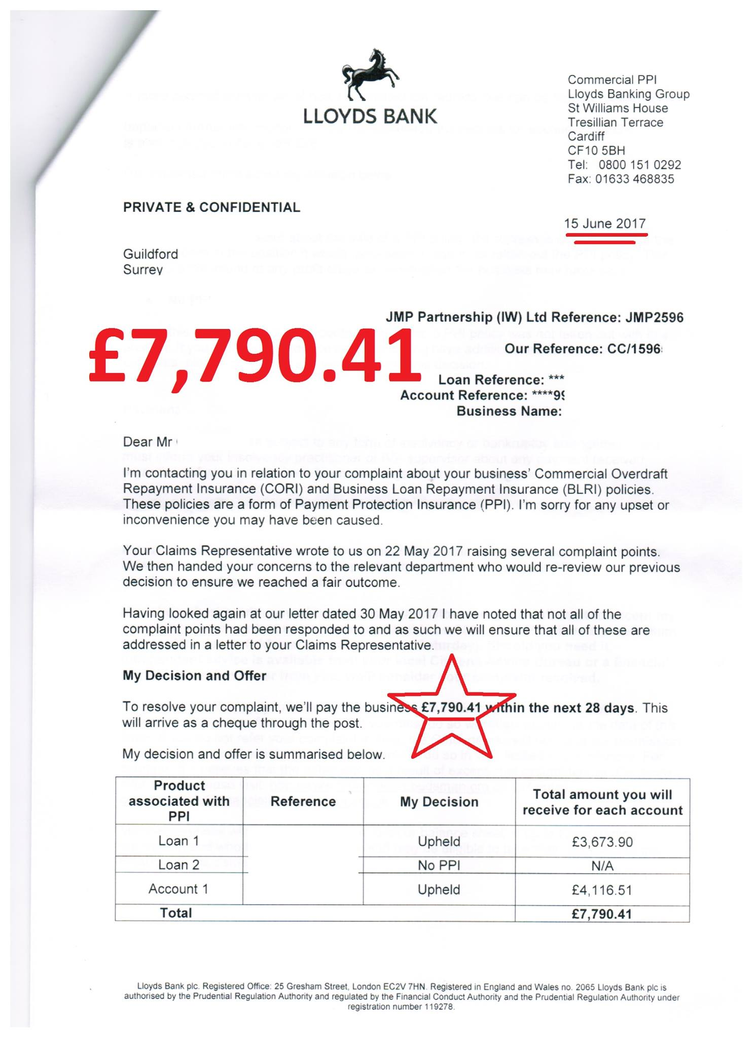 Hall of shame jmp partnership for Ppi claim template letter to bank
